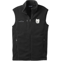 West Highland White Terrier Embroidered Mens Fleece Vest