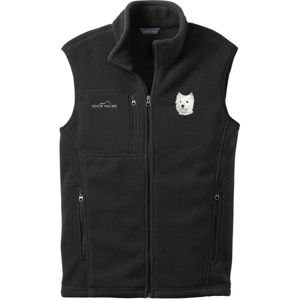 Embroidered Mens Fleece Vests Black 3X Large West Highland White Terrier D126