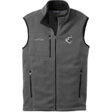 Embroidered Mens Fleece Vests Gray 3X Large Akita DJ174