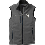 Embroidered Mens Fleece Vests Gray 3X Large Alaskan Malamute D33
