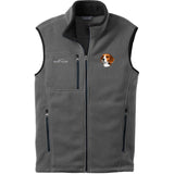 Embroidered Mens Fleece Vests Gray 3X Large Beagle D31
