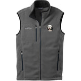 Embroidered Mens Fleece Vests Gray 3X Large Bearded Collie D37