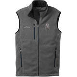Embroidered Mens Fleece Vests Gray 3X Large Bouvier des Flandres D105