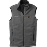 Embroidered Mens Fleece Vests Gray 3X Large Cane Corso DV166