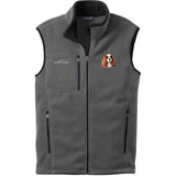 Embroidered Mens Fleece Vests Gray 3X Large Cavalier King Charles Spaniel D11