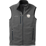 Embroidered Mens Fleece Vests Gray 3X Large Coton de Tulear DV217