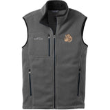 Embroidered Mens Fleece Vests Gray 3X Large Dachshund DV360