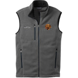 Embroidered Mens Fleece Vests Gray 3X Large Dogue de Bordeaux D39