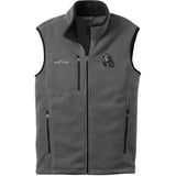 Embroidered Mens Fleece Vests Gray 3X Large English Cocker Spaniel DV414