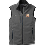 Embroidered Mens Fleece Vests Gray 3X Large English Setter DV457