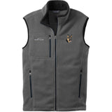 Embroidered Mens Fleece Vests Gray 3X Large German Shepherd Dog D70