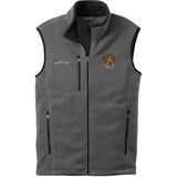 Embroidered Mens Fleece Vests Gray 3X Large German Wirehaired Pointer DV467