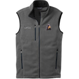 Embroidered Mens Fleece Vests Gray 3X Large Gordon Setter D78