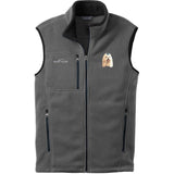 Embroidered Mens Fleece Vests Gray 3X Large Maltese D64