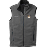 Embroidered Mens Fleece Vests Gray 3X Large Papillon DV463