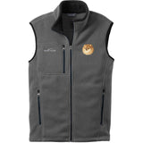 Embroidered Mens Fleece Vests Gray 3X Large Pomeranian D103