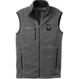 Embroidered Mens Fleece Vests Gray 3X Large Schipperke DN434