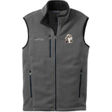 Embroidered Mens Fleece Vests Gray 3X Large Shih Tzu DN390