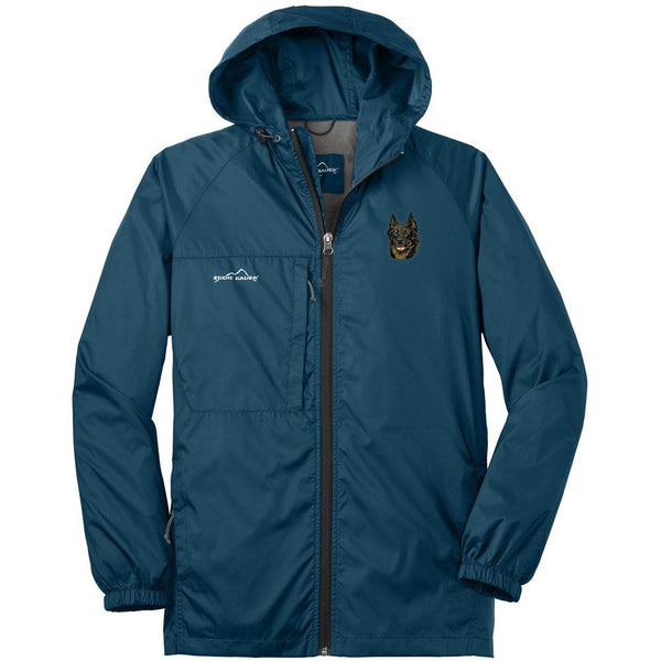 Embroidered Mens Eddie Bauer Packable Wind Jacket Brilliant Blue 3X-Large Beauceron DV165
