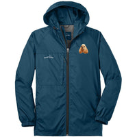 Cocker Spaniel Embroidered Mens Eddie Bauer Packable Wind Jacket