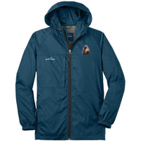 Gordon Setter Embroidered Mens Eddie Bauer Packable Wind Jacket