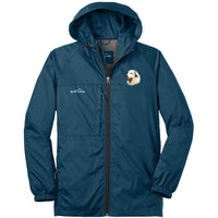 Great Pyrenees Embroidered Mens Eddie Bauer Packable Wind Jacket