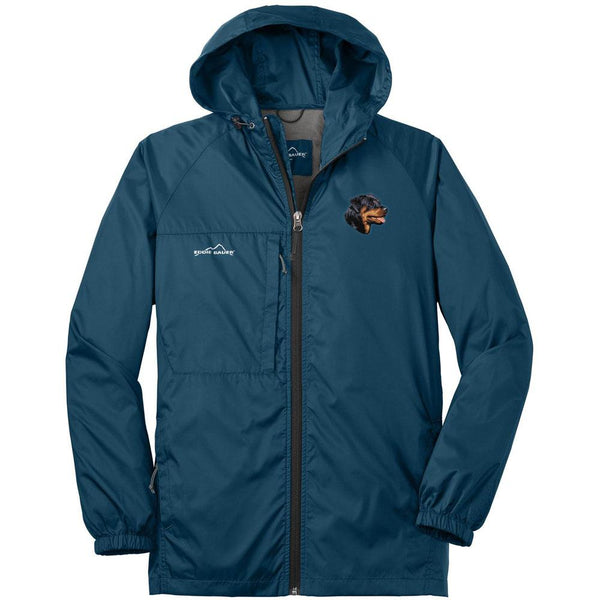 Embroidered Mens Eddie Bauer Packable Wind Jacket Brilliant Blue 3X-Large Rottweiler D7