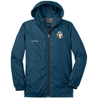 Shih Tzu Embroidered Mens Eddie Bauer Packable Wind Jacket