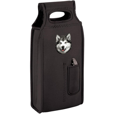 Alaskan Malamute Embroidered Wine Totes