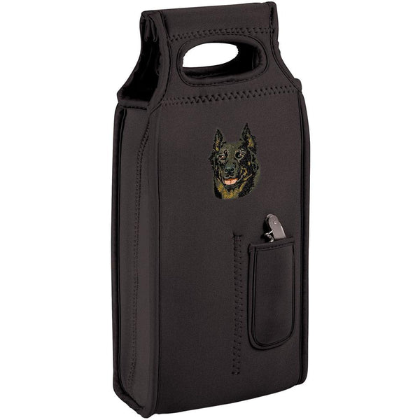 Embroidered Samba Wine Totes Black  Beauceron DV165