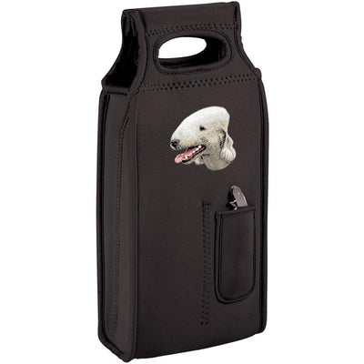 Bedlington Terrier Embroidered Wine Totes