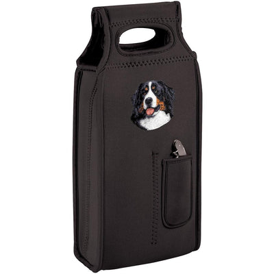Bernese Mountain Dog Embroidered Wine Totes