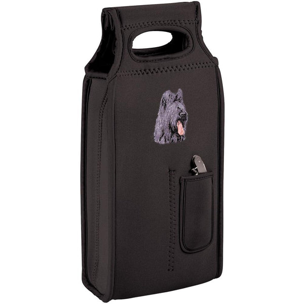 Embroidered Samba Wine Totes Black  Briard D72