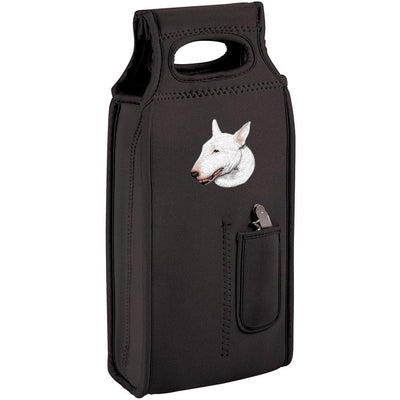 Bull Terrier Embroidered Wine Totes