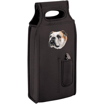 Bulldog Embroidered Wine Totes