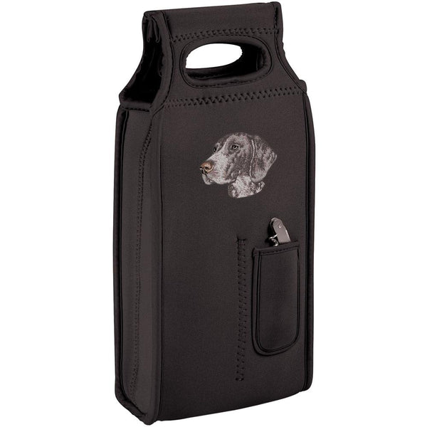 Embroidered Samba Wine Totes Black  German Shorthaired Pointer D131