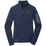 Embroidered Eddie Bauer Ladies Half Zip Performance Fleece Navy 2X-Large Affenpinscher DM488
