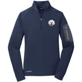 Embroidered Eddie Bauer Ladies Half Zip Performance Fleece Navy 2X-Large Bichon Frise DM406