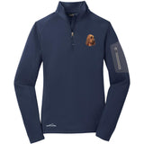 Embroidered Eddie Bauer Ladies Half Zip Performance Fleece Navy 2X-Large Bloodhound DM411