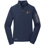 Embroidered Eddie Bauer Ladies Half Zip Performance Fleece Navy 2X-Large Curly Coated Retriever D137