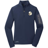 Embroidered Eddie Bauer Ladies Half Zip Performance Fleece Navy 2X-Large Great Pyrenees D27