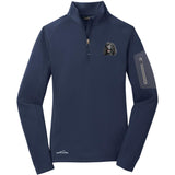 Embroidered Eddie Bauer Ladies Half Zip Performance Fleece Navy 2X-Large Irish Water Spaniel D145