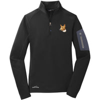 Basenji Embroidered Eddie Bauer Ladies Half Zip Performance Fleece