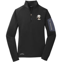 Bearded Collie Embroidered Eddie Bauer Ladies Half Zip Performance Fleece