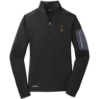 Beauceron Embroidered Eddie Bauer Ladies Half Zip Performance Fleece