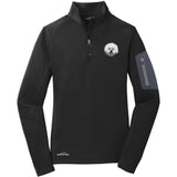 Embroidered Eddie Bauer Ladies Half Zip Performance Fleece Black 2X-Large Bichon Frise DM406