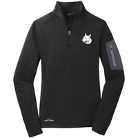 Bull Terrier Embroidered Eddie Bauer Ladies Half Zip Performance Fleece