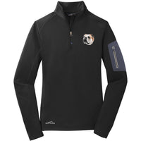 Bulldog Embroidered Eddie Bauer Ladies Half Zip Performance Fleece