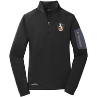 Greater Swiss Mountain Dog Embroidered Eddie Bauer Ladies Half Zip Performance Fleece