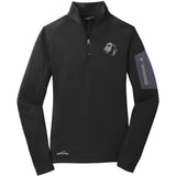 Embroidered Eddie Bauer Ladies Half Zip Performance Fleece Black 2X-Large Irish Wolfhound D75